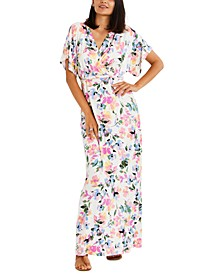 Printed Maxi Nursing & Maternity Dress