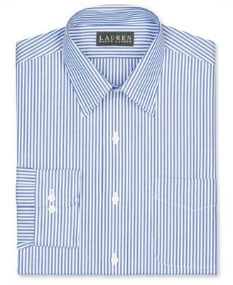 Lauren Ralph Lauren Non-Iron Slim-Fit Blue Bengal Stripe Dress Shirt