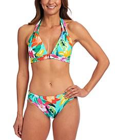 Tropical Triangle Bikini Top & Hipster Bikini Bottoms