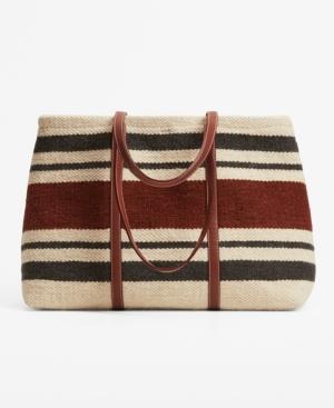 Women's Wool-Blend Shopper Bag