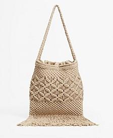 Women's Fringed Crochet Bag