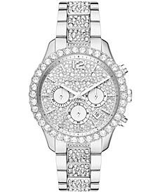 Women's Layton Chronograph Silver-Tone Stainless Steel Bracelet Watch 42mm