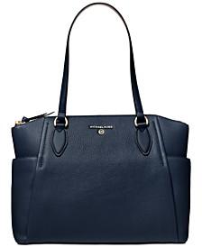 Sienna Medium Leather Top-Zip Tote