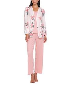 Sam Travel Cardigan, Cami & Pants Pajama Set