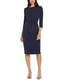 Tie-Front Sheath Dress