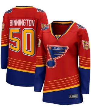 Women's Jordan Binnington Red St. Louis Blues 2020/21 Special Edition Breakaway Player Jersey