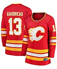 Women's Johnny Gaudreau Red Calgary Flames 2020/21 Home Premier Breakaway Player Jersey