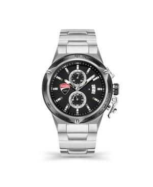 Men's Giro Uno Silver-tone Stainless Steel Bracelet Watch 45mm
