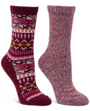 2-Pk. Geo Fair Isle & Marled Crew Boot Socks