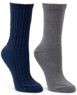 2-Pk. Textured & Classic Crew Boot Socks