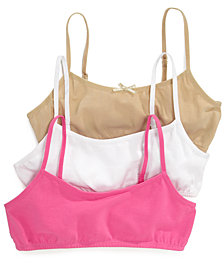 Maidenform 3-Pack Crop Bras, Little Girls & Big Girls