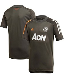 Youth Boys and Girls Olive Manchester United 2020/21 Training Jersey