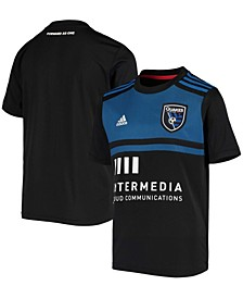 Youth Boys and Girls Black San Jose Earthquakes 2020 Primary Replica Jersey