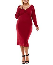 Trendy Plus Size Twisted-Back Bodycon Dress