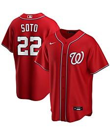 Men's Juan Soto Red Washington Nationals Alternate Replica Player Name Jersey