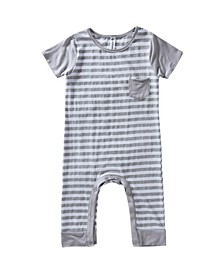 Baby Boys and Girls Short Sleeve Viscose from Bamboo Romper