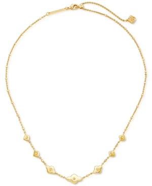 "Kendra Scott Medallion 18"" Adjustable Strand Necklace In Gold"