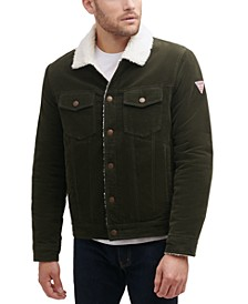 Men's Corduroy Bomber Jacket with Sherpa Collar