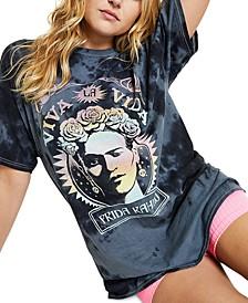 Cotton Frida Kahlo-Graphic T-Shirt