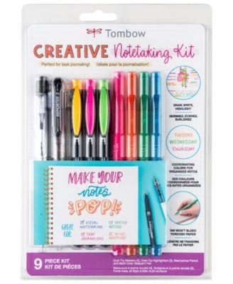 Tombow Creative Notetaking Kit, 9 Piece