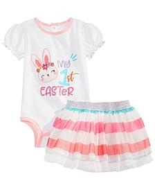 Baby Girls 2-Pc. Bodysuit & Tulle Skirt Set