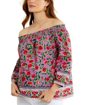 Cotton Off-The-Shoulder Maternity Top