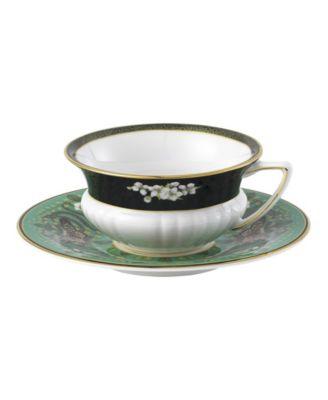 Wonderlust Emerald Forest 2 Piece Teacup Saucer Set