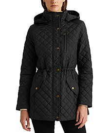 Petite Quilted Hooded Anorak Coat, Created for Macy's