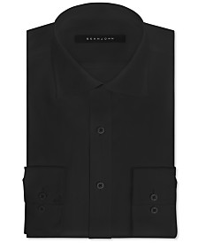 Sean John Classic/Regular Fit Men's Big and Tall Solid Classic-Fit Dress Shirt