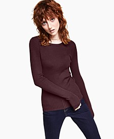 Solid Ribbed Crewneck Sweater, Created for Macy's