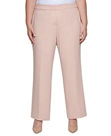 Plus Size Mid-Rise Pleat-Front Pants