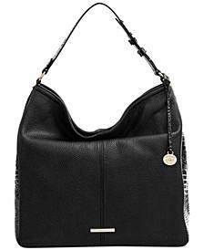 Isabella Embossed Leather Shoulder Bag