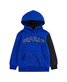 Big Boys Jump Man Air Speckle Printed Fleece Pullover Hoodie