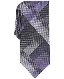 Men's Ember Plaid Slim Tie, Created for Macy's