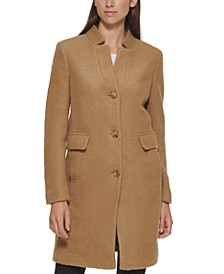 Petite Single-Breasted Bouclé Walker Coat, Created for Macy's