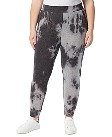 Trendy Plus Size Tie-Dyed Jogger Pants