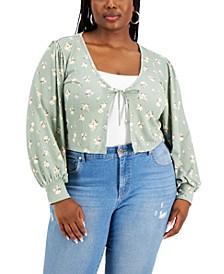Trendy Plus Size Cropped Cardigan