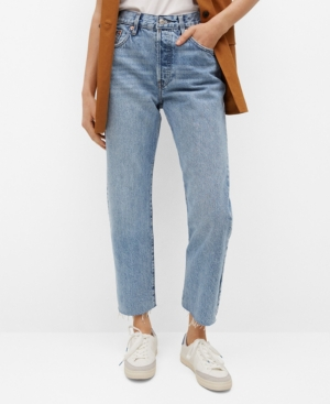 Women's Ankle-Length Straight-Fit Jeans