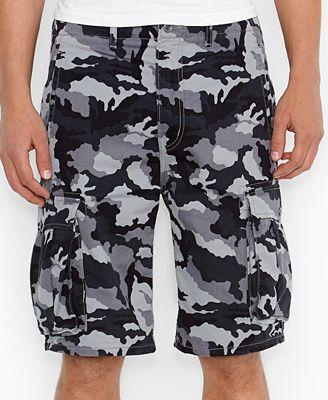 Levi's Black Camo Ace Cargo Shorts - Shorts - Men - Macy's
