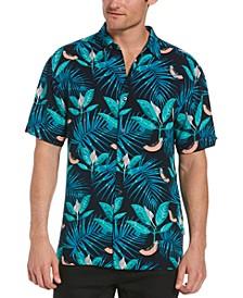 Men's Textured Papaya-Print Shirt