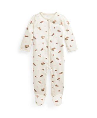폴로 랄프로렌 Polo Ralph Lauren Baby Boys Bear Interlock Coverall,Baby Girl Bear Print