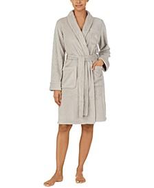 So Soft Textured Cozy Shawl Collar Robe