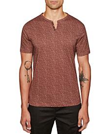 Men's Slim Fit Interlaced Short Sleeve Henley