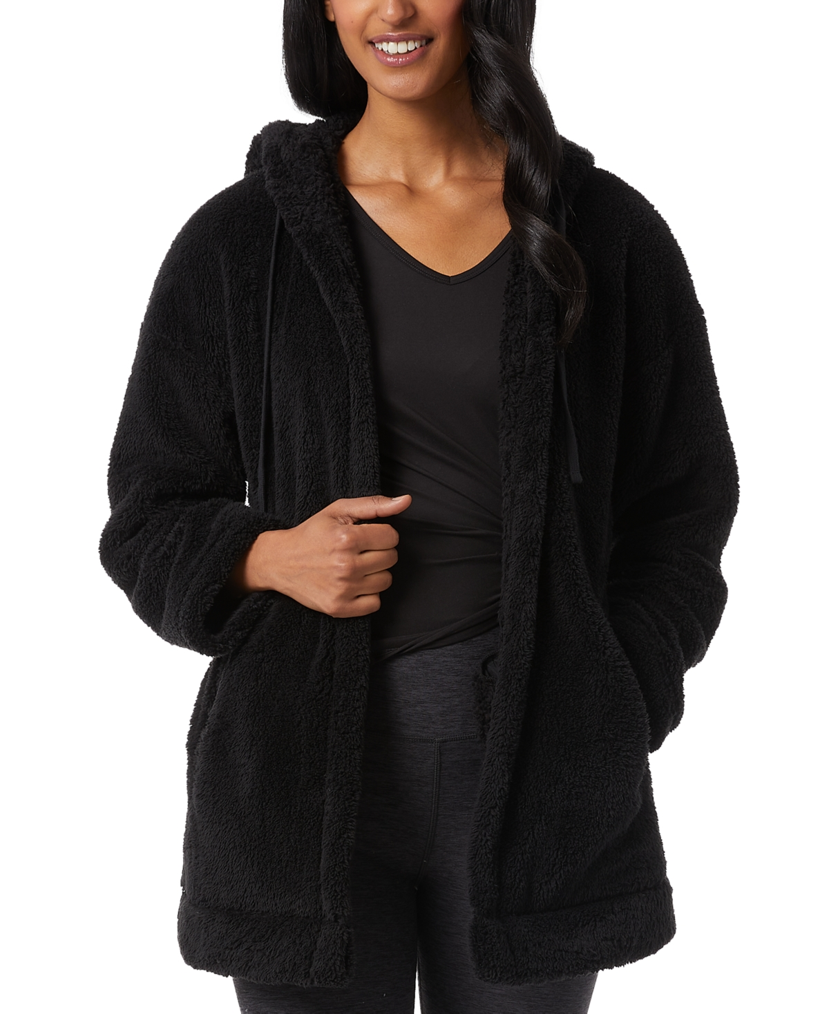 32 Degrees Sherpa Hooded Cardigan