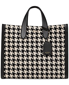 Manhattan Houndstooth Chenille Large Tote