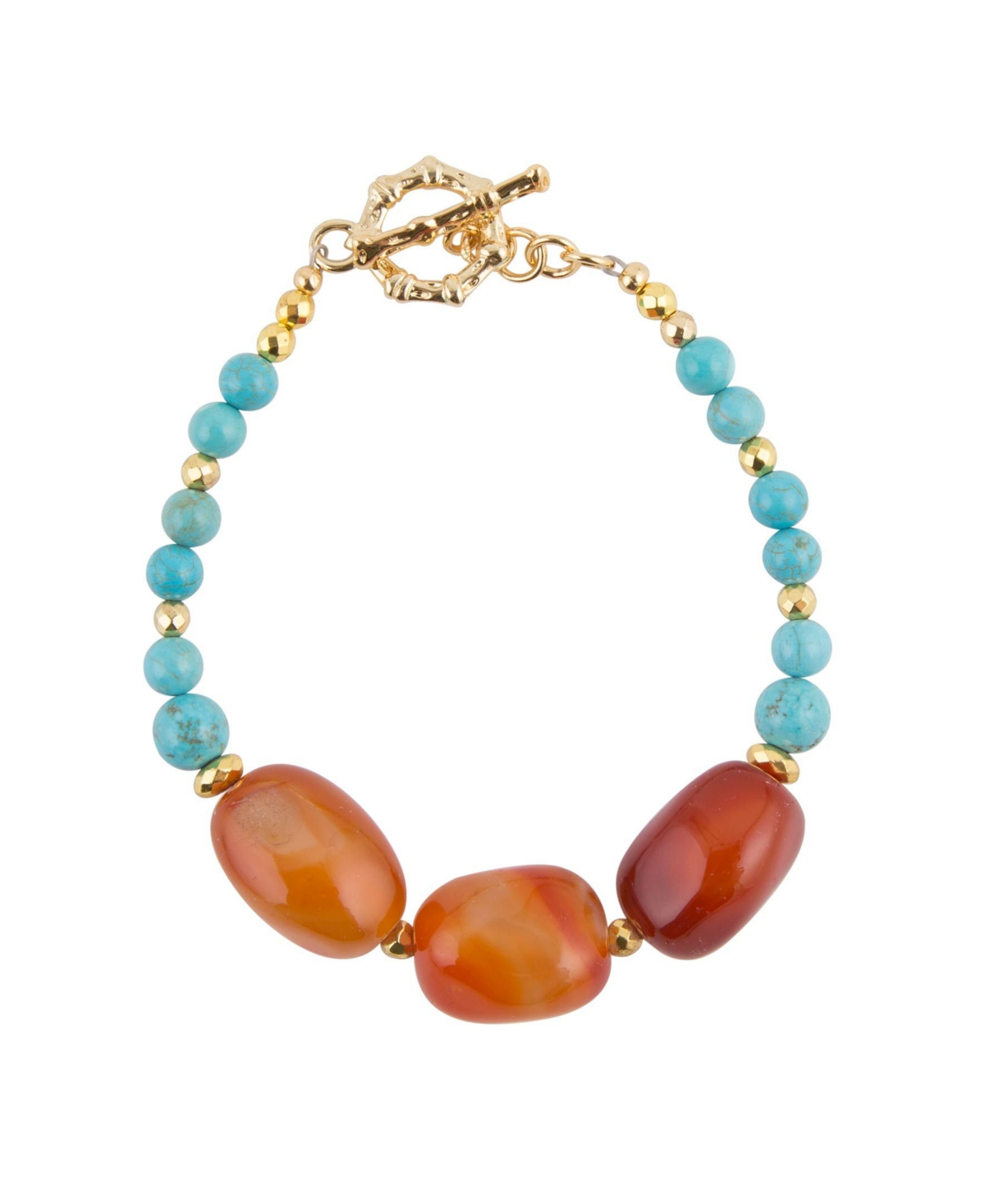 Barse Women's Out West Genuine Stone Toggle Bracelet
