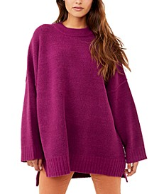Peaches High-Low Tunic Sweater