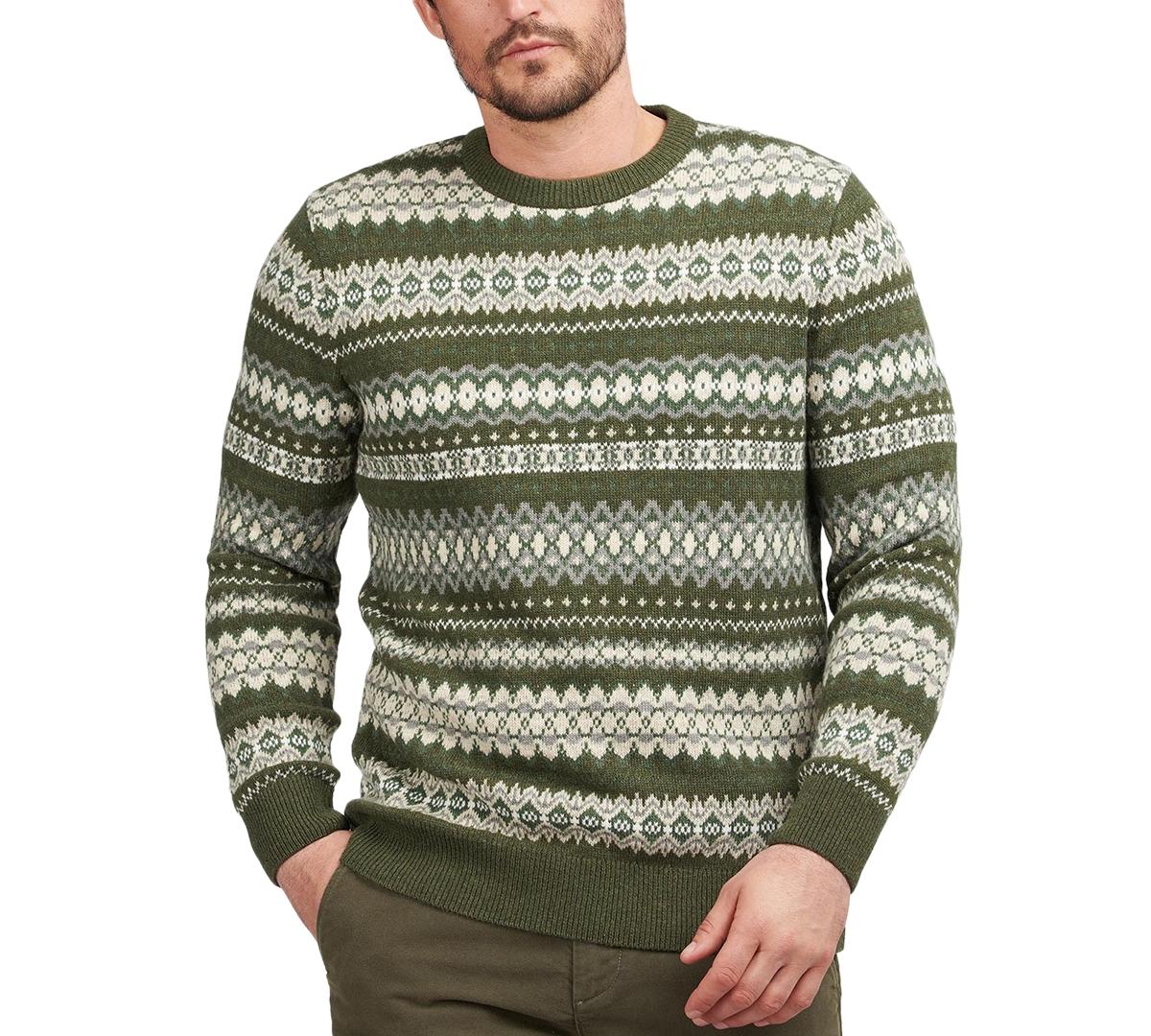 1920s Men's Sweaters, Cardigans, Knitwear Barbour Mens Fair Isle Sweater $125.00 AT vintagedancer.com