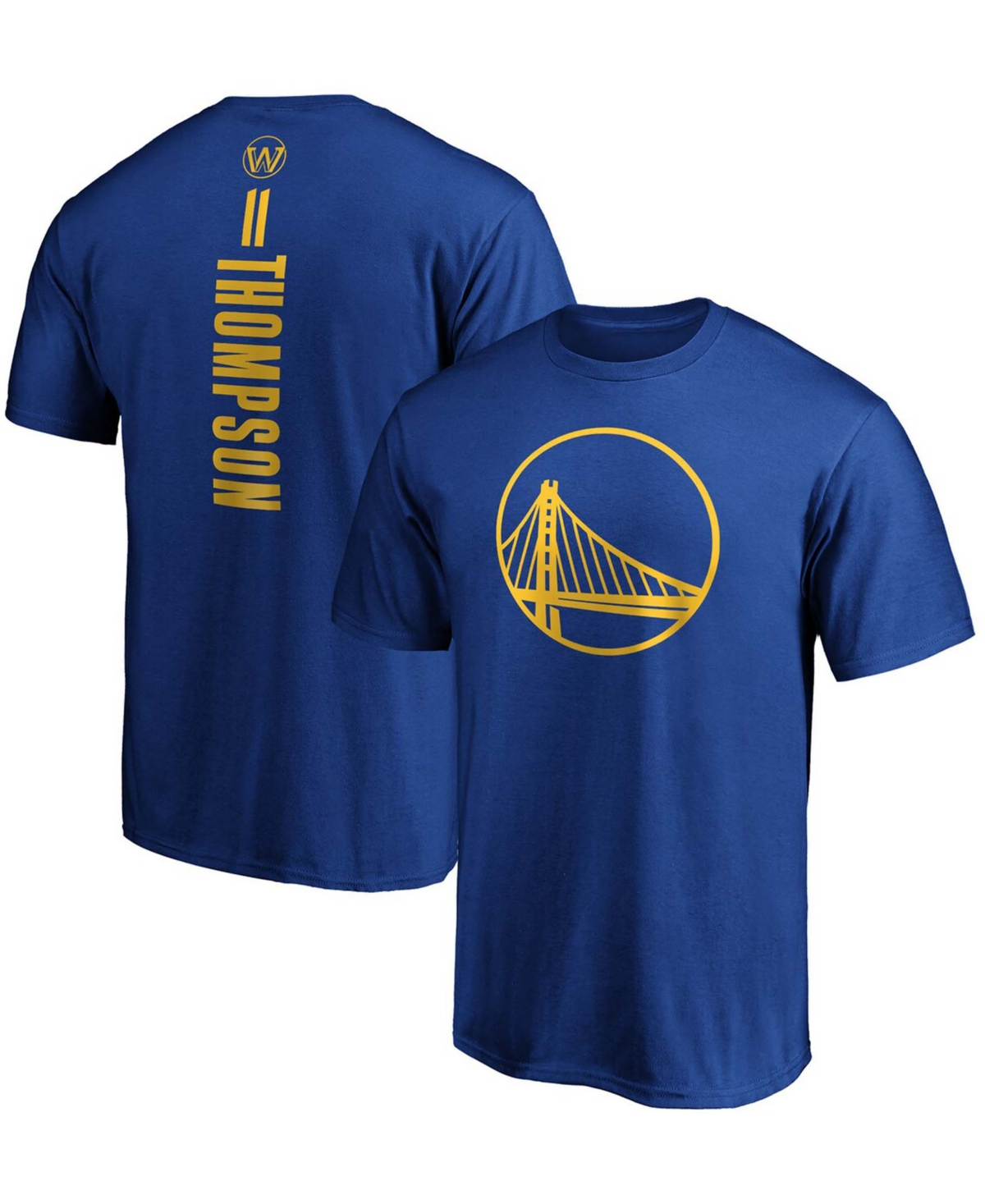 Men's Klay Thompson Royal Golden State Warriors Team Playmaker Name and Number T-shirt