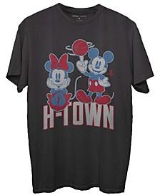 Men's Black Houston Rockets Disney Mickey Minnie 2020/21 City Edition T-shirt